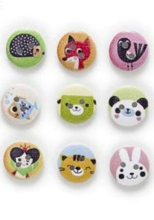 5 Cute Animal Buttons