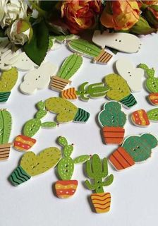 4 Cactus Buttons