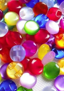 5 Candy Shirt Buttons 12mm